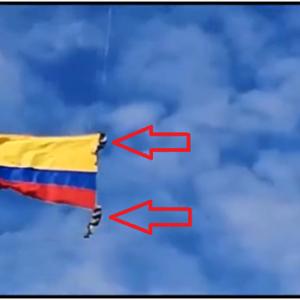 コロンビアの国旗に摑まり飛んでいた2人の兵士が落下して死亡! これではどうしようもないな