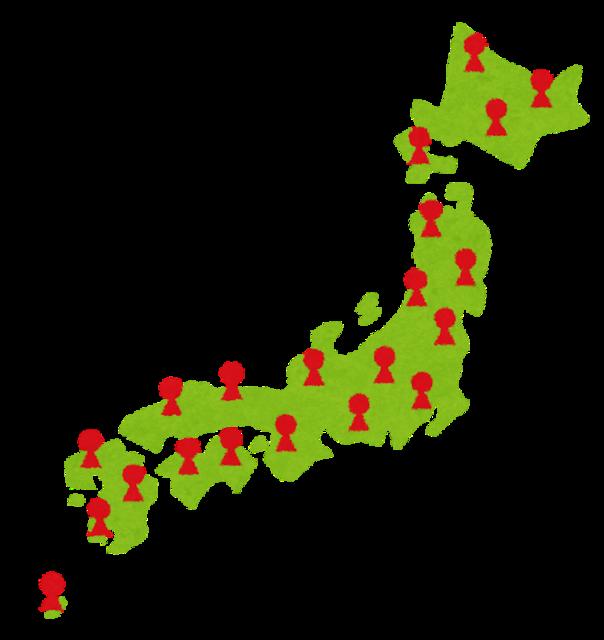 あるジャンルで分布図を作った結果、北海道だと一目でわかるマップが完成。そのジャンルとは一体…