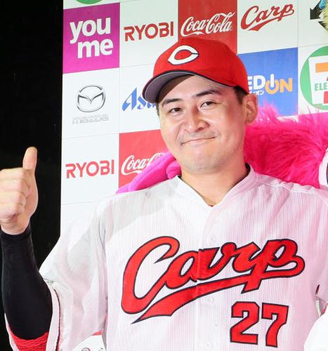 広島・會澤選手、佐々岡監督のラブコールに「ありがたい」