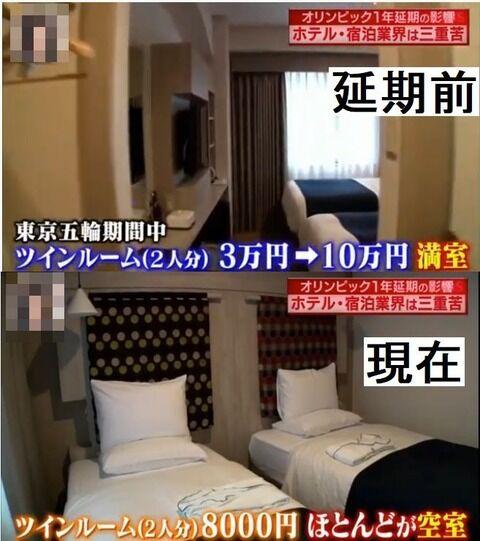 ホテル「五輪中は1泊10万円でも予約満室やで」