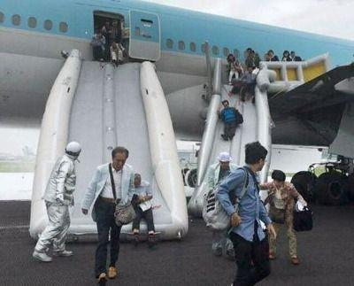 【大韓機事故】エンジン内部の部品がエンジンカバーを突き破り散乱 離陸滑走開始後に破裂音/羽田空港