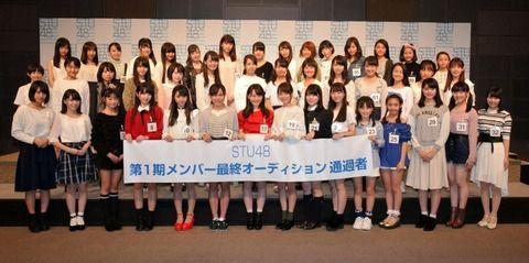 【STU48】「最年少は12歳」第1期生オーディション合格者44人を発表 姉妹グループ最多 「CDデビュー」も決定!
