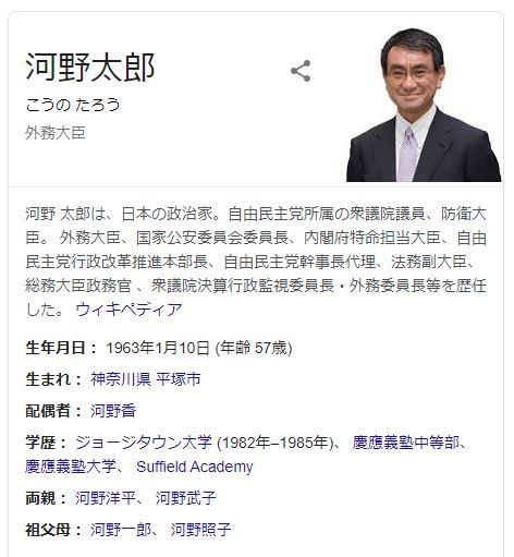 河野太郎氏、行政改革担当大臣に起用へ