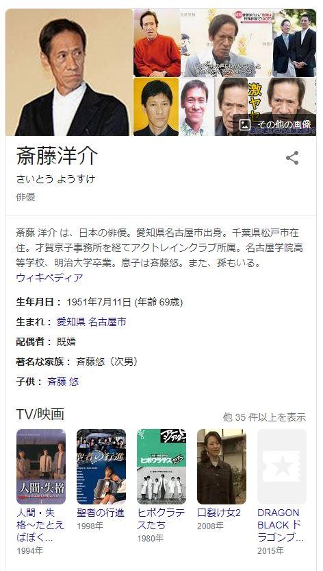 【訃報】俳優・斎藤洋介さん、死去…69歳