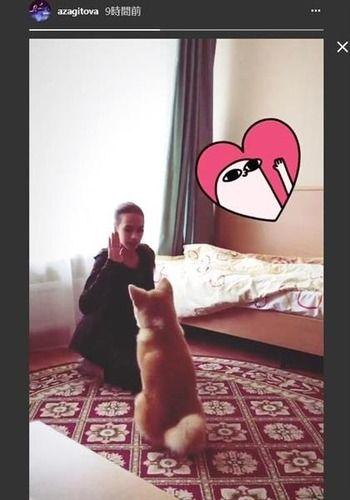 【フィギュアスケート】秋田犬マサル、お座りできたよ ザギトワ選手が動画投稿
