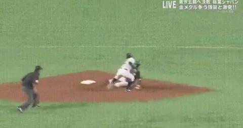 【悲報】台湾、6点差で盗塁