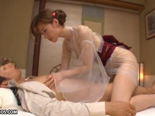【林ゆな】シースルーの着物がエロい!和風ヘルスのトップに君臨するお嬢と愛撫したい!