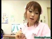 エロカワ女医のザーメン搾取、こんなかわいい子ならすぐ出ちゃうよ(浜崎りお)