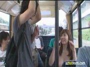 バスの中に全裸の美巨乳美女お姉さんが突然現れるなんて羨まし過ぎる(麻美ゆま)