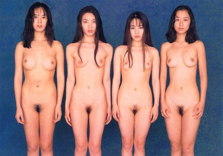 集合 全裸全裸直立 正面 ヌード