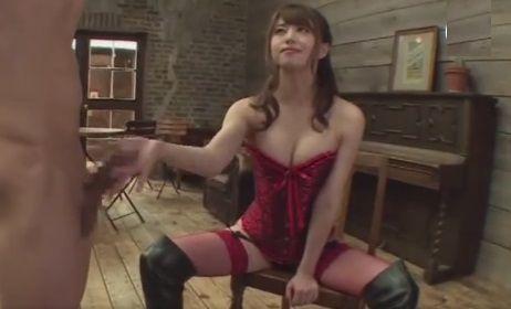 痴女動画 - 【吉沢明歩】M男を拘束し乳首舐め手コキ抜きする痴女動画
