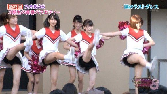 乃木坂3期生がチアガールで集団パンチラ