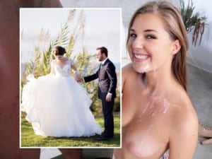 【画像】結婚式を挙げた後に旦那とは違う黒人の20cmチ●コとセックスする女wwwwww