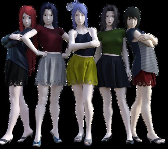 スカート5人