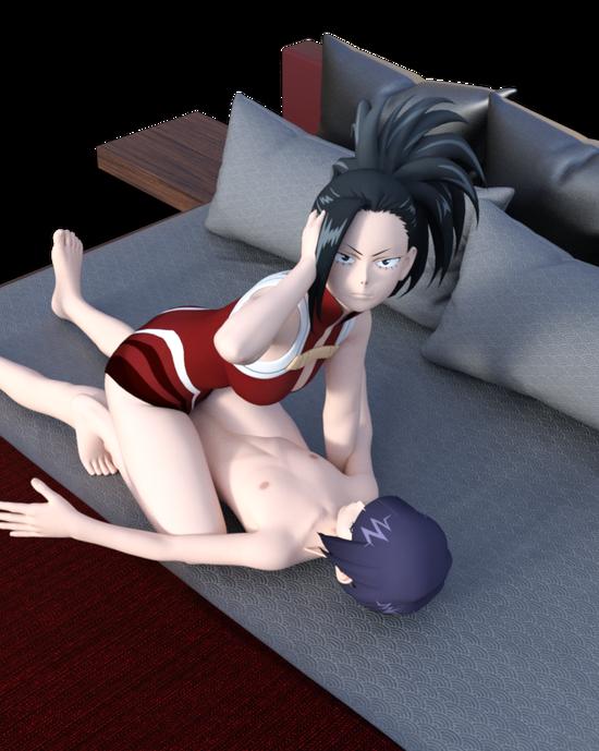 yaoyorozu momo & jirou kyouka