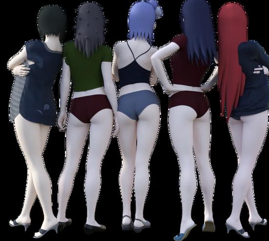 スカート5人3
