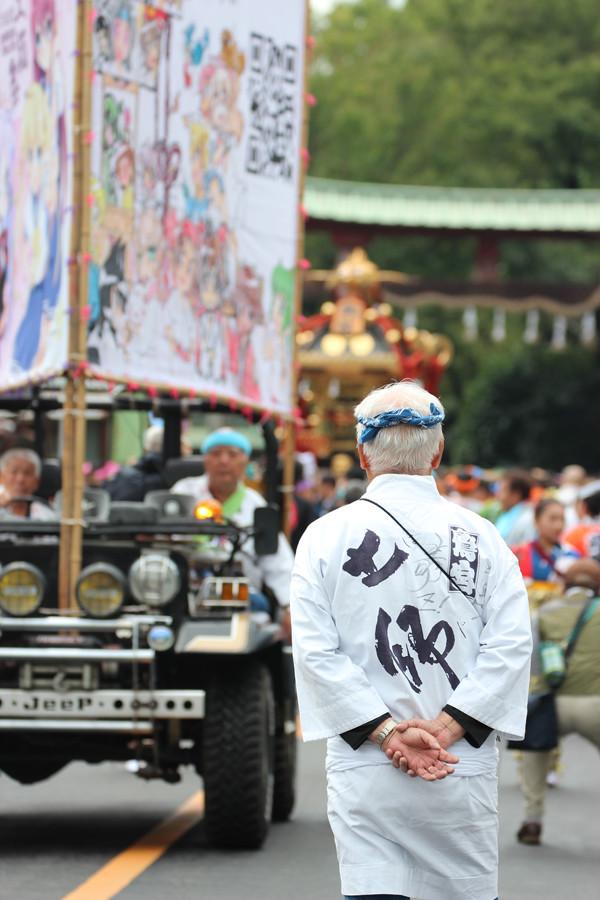 土師祭2014-千貫神輿昼の部と会長