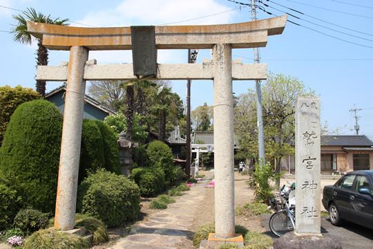 八甫(はっぽう)鷲宮神社鳥居前