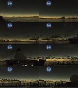 360度の夕焼け