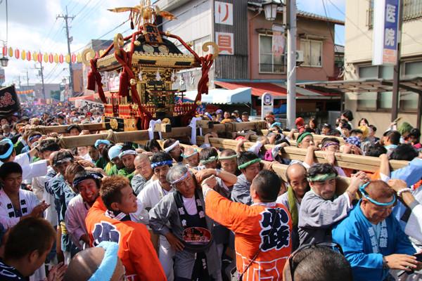 土師祭2014 迫力の千貫神輿