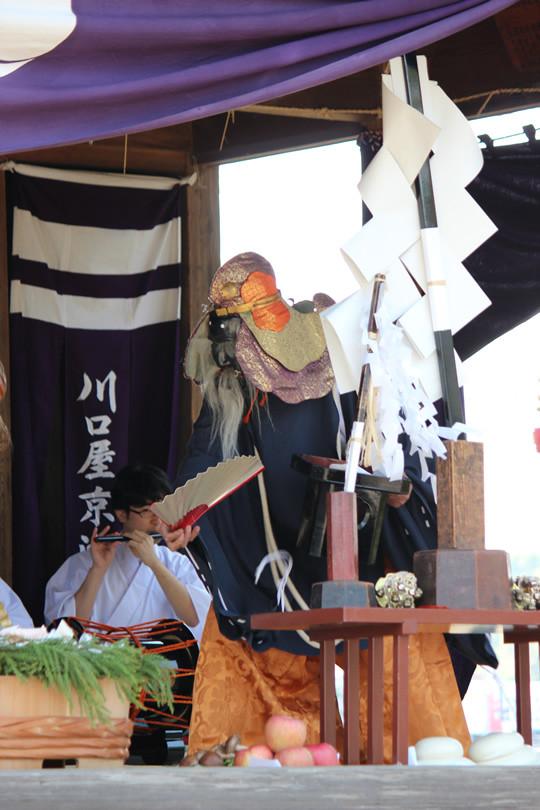 八甫鷲宮神社の神楽 第9座 五穀最上国家経営之段 (ごこくさいじょうこっかけいえいのまい