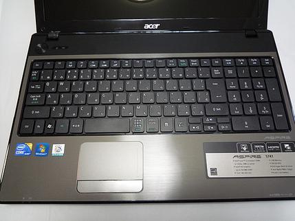 ACER「Aspire 5741」キーボード配置