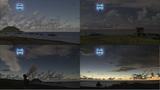 皆既日食時の硫黄島