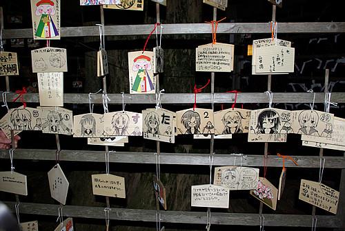 2012年元旦の鷲宮神社絵馬掛け所