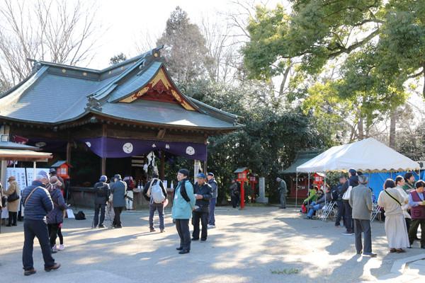 鷲宮神社 年越祭 神楽殿前