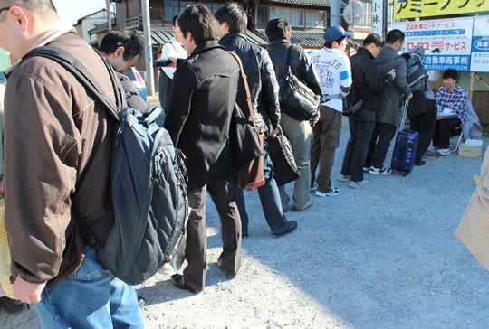 2012小早川ゆたか誕生会第二部の受付列