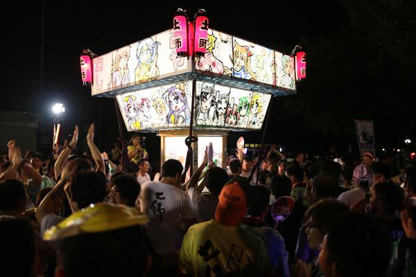 土師祭2014 土師祭終了時の「らき☆すた」神輿