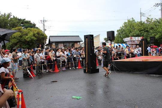 MISSコン直前のステージ