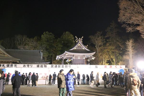 年明けの境内 鷲宮神社2015年初売り