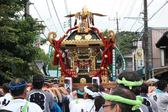 千貫神輿30周年の渡御開始