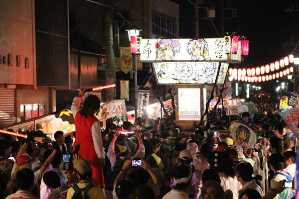 土師祭2014 らき☆すた神輿の渡御2
