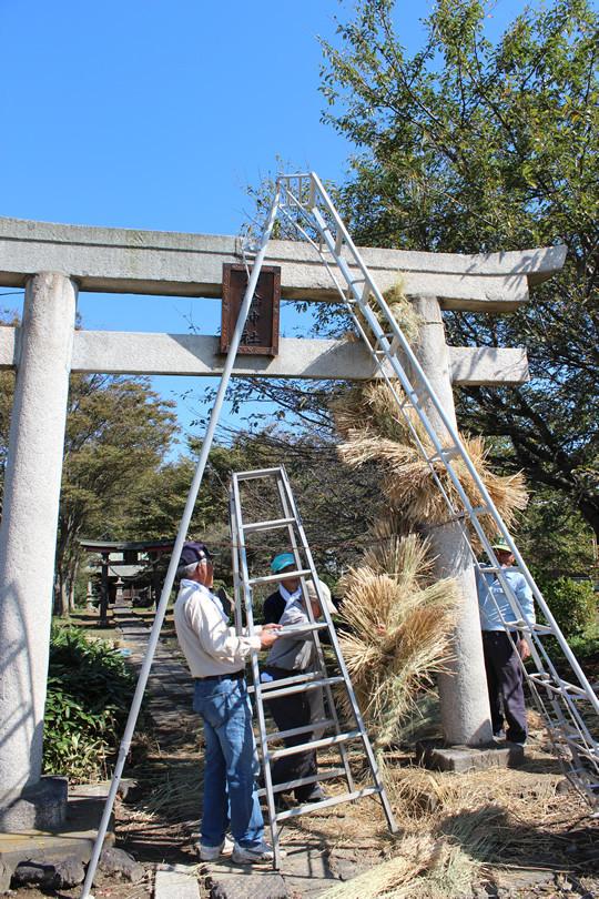 大輪神社の秋季祭「ワラの大蛇」8