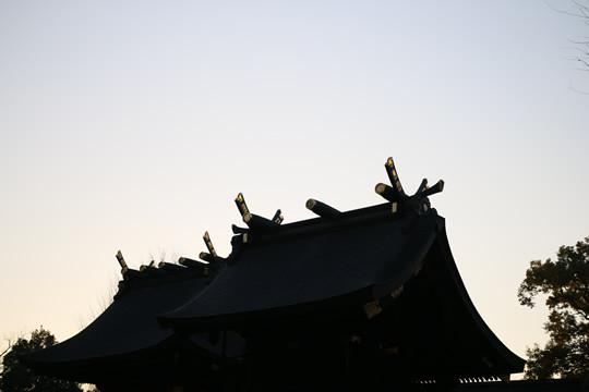 2014年元旦 初日の出直前の鷲宮神社