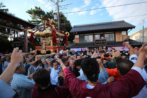 土師祭2014-千貫神輿 昼の部クライマックス