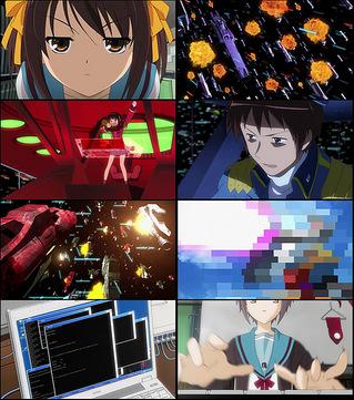 ハルヒ27話 CG艦隊戦と「ア○ロいきま〜す」