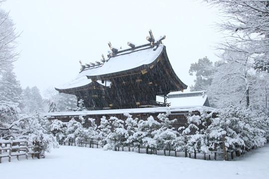 雪の鷲宮神社 本殿