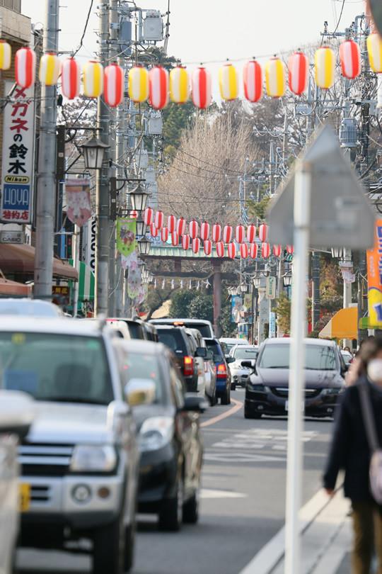 2014年1月日の鷲宮神社門前通りの渋滞列2
