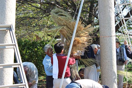 大輪神社の秋季祭「ワラの大蛇」5