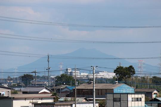 八甫跨線橋から見える筑波山