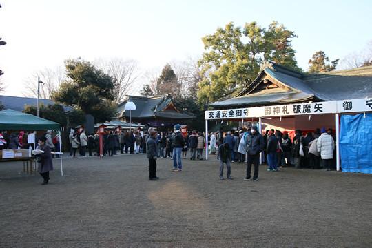 2014年元旦 日の出前の鷲宮神社3