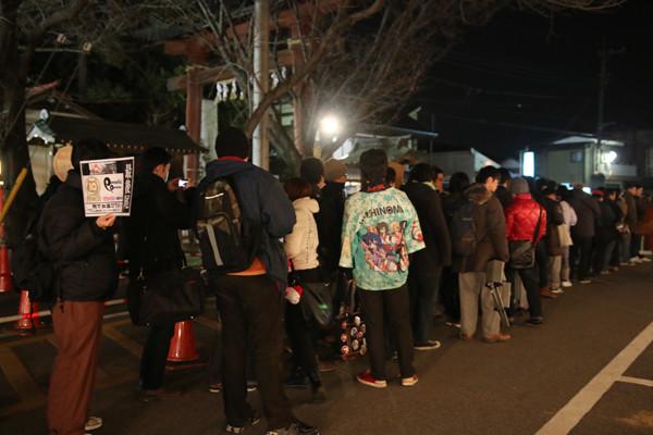 らきすたグッズ販売ブースの列2 鷲宮神社2015年初売り