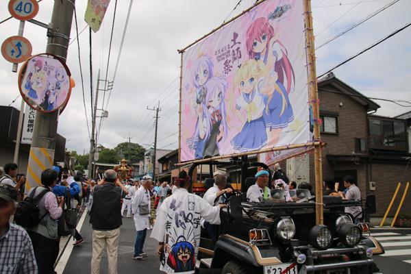土師祭2014 神輿先導ジープ