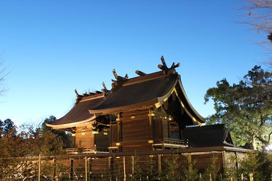 鷲宮神社2013年の夜明け