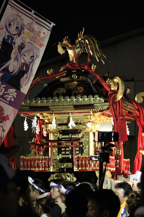 土師祭2014 のぼりと千貫神輿