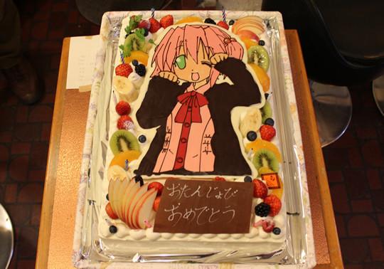 2012小早川ゆたか誕生会の特大ゆーちゃんケーキ