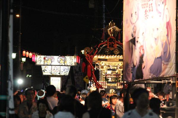 土師祭2014 土師祭を彩る「千貫神輿」と「らき☆すた神輿」